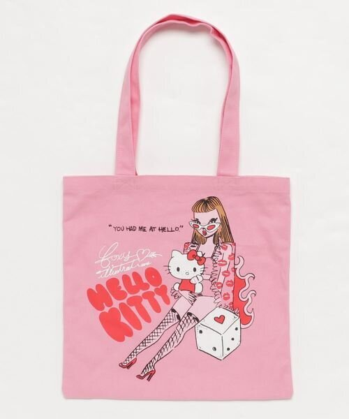 sanrio HELLO KITTY×foxy illustrations カラートートバッグ