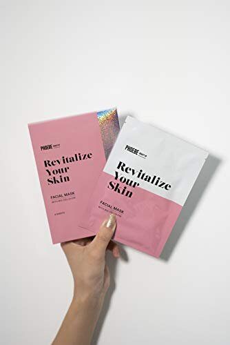 PHOEBE BEAUTY UP Revitalize Youre Skin FACIAL MASK,フィービー【フェイスマスク/30ml×4枚入り,ヒト幹細胞培養液高濃度配合】天然素材のシートマスク,バイオセルロース,パック,美容成分,ハリ,エイジングケア,透明感,毛穴,SNS映え
