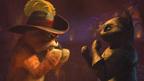 プス&キティ、情熱のネコダンス! 『長ぐつをはいたネコ』ダンスバトルのゆくえは…?