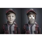 飼い主の写真に飼い猫の顔を入れ込んでみた。こうなった。「UnderCats」