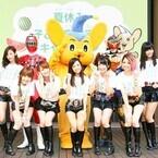 トッキュウ1号と仮面ライダー鎧武が夏休みの子供たちに交通安全を呼びかけ!