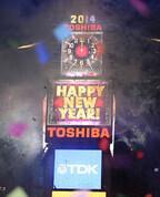 東芝ビジョンが2014年の幕を開ける! NYタイムズスクエア年末カウントダウン