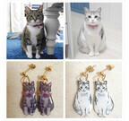 愛猫の写真を送って作るオーダーメイド猫ピアスが可愛い!
