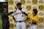 東京都・文京区で、清原ら新旧プロ野球スターによるスペシャルマッチに参加