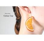 本物のオレンジを使った美しすぎるピアスが話題に