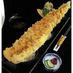 長さ50cm! アナゴが複数の丼をまたぐ「房総巨大あなご天丼」発売