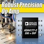 ADI、入力過電圧保護と電磁干渉フィルタを集積した高精度オペアンプを発表