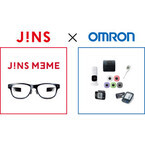 JINS、メガネ型端末「JINS MEME」の拡張型デバイスをオムロンと共同開発