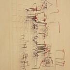 東京都・恵比寿で文豪の自筆原稿を針金で立体的に再現する荒井美波の個展