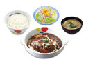 松屋、ボリューム満点な「ブラウンシチューハンバーグ定食」を発売