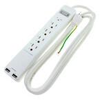上海問屋、USBポートを備えた雷サージ機能付電源タップ