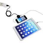 上海問屋、USB充電器を2ポートに分配するUSBケーブル - 電力も自動調整