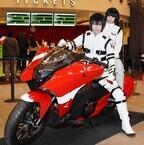 『劇場版 シドニアの騎士』公開記念!紅天蛾仕様のバイク「NM4-02」お披露目