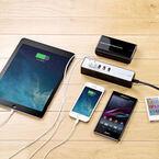 サンワダイレクト、最大5台のスマホに給電可能なタップ型USB充電器