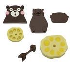 くまモンのチョコが作れるシリコーン型! ハート型やからしれんこん型も