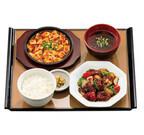 やよい軒、本格的なピリ辛麻婆豆腐も付いた「黒酢酢豚定食」新発売