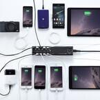 サンワ、スマホなど10台の端末を同時充電できるUSB充電器発売