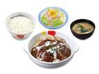 松屋、「ブラウンソースハンバーグ定食」を定番メニュー化決定!