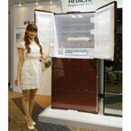 730Lの大容量を実現した冷蔵庫 - 日立、野菜を眠らせる「真空チルド」発表会