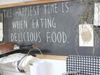 黒板とチョークのインテリアがキッチンやリビングをステキな空間に♪
