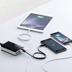 サンワ、タブレットやスマホをまとめて充電できる6ポートUSB充電器