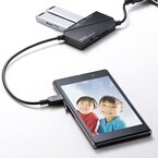 USBハブ・カードリーダ・スマホ充電ケーブルを一体化 - サンワサプライ