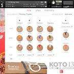 日本の古典楽器・十三弦箏を音源化した「KOTO 13」発売