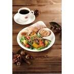 ベックスコーヒーショップ、秋の実りをプレートサラダと、ドリンクで展開