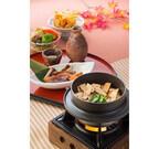 藍屋で「松茸と合鴨フェア」、松茸スライスを敷き詰めた炊き込み御飯が登場
