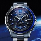 カシオ、原点のブルーにこだわったGPSソーラー電波ウオッチ「OCEANUS」