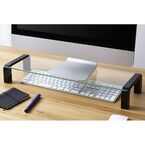 キングジム、机の上をすっきりと整理できるガラス製デスクボード