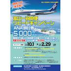 富山空港、羽田=富山線6往復維持を狙ったリピート・割引キャンペーン実施