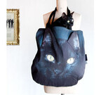 黒猫の顔が丸ごとバッグになったフェイスバッグ発売