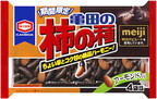 亀田製菓×明治の人気コラボ商品、「亀田の柿の種 チョコ&アーモンド」販売