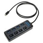 上海問屋、USB Type-Cコネクタ搭載のデバイスに接続可能なUSB 3.0ハブ