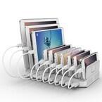 テックウインド、最大10台のタブレットやスマホを同時充電できるUSB充電器