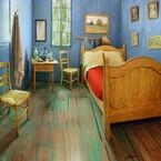 ファン・ゴッホの寝室を再現した部屋、