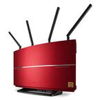 バッファロー、40周年特別仕様の赤色ルータ・赤色HDDを限定販売