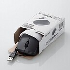エレコム、簡易包装のUSB有線マウスを3モデル、PS/2マウスを1モデル