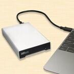 ラトック、USB 3.1 Gen 2対応で高速転送可能なアルミ製2.5インチHDDケース