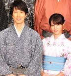 深田恭子、佐々木蔵之介から「水着も着物もお美しい」と絶賛されて照れ笑い
