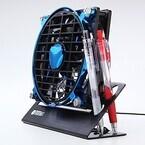 サンワダイレクト、静音性の高い140mmファンを搭載したUSB卓上扇風機