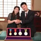 吉田沙保里「銀メダルは新鮮・いい色」- 小藪に今後を相談