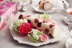 バラを使ったスイーツ「花咲くローズロール」などを再発売 -日比谷花壇