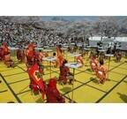 武者が駒になってプロ棋士たちが真剣勝負! 山形県で「人間将棋」開催