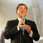 ニコニコ超会議3 - 自民党石破幹事長、鉄道ブースでブルートレインを語る!