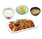 松屋、甘辛味でごはんがすすむ「タッカルビ風鶏の甘辛味噌炒め定食」発売