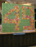 4月9日、女子大生が490個のマカロンで子宮頸がんの予防啓発を開催