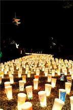 3万ものほのかに灯るぼんぼりで心を癒やす、広島県尾道市「灯りまつり」開催