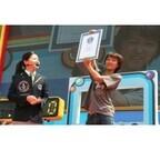 東京都お台場でギネス認定! 1分間で風船ガム9個の世界記録を樹立 - ロッテ